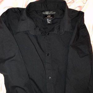 H&M Easy Iron Formal Men's Dress Shirt Button Up L